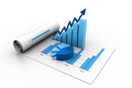 stock graph: Business graph with chart Stock Photo