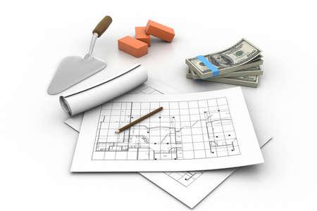 3d Construction concept Stock Photo - 11197560