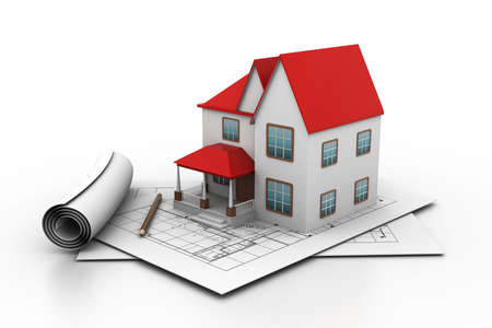 drawing safety: House model on a plan