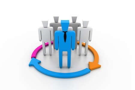 co action: Team Flow Chart Stock Photo