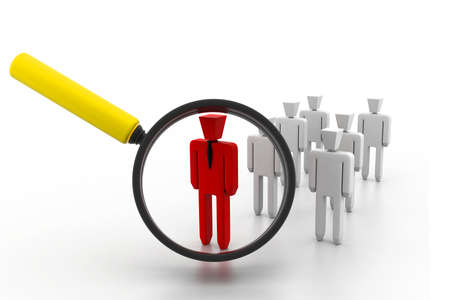 search a group company or population of people and find a leader photo