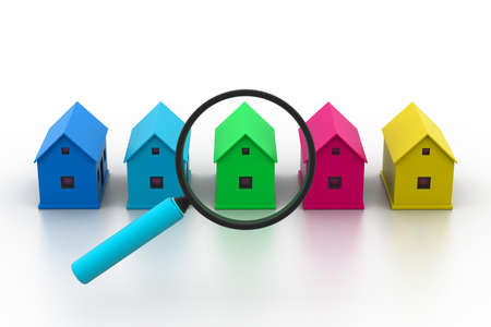 home search: Search a  new house Stock Photo