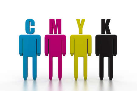 cmyk colored icon people photo
