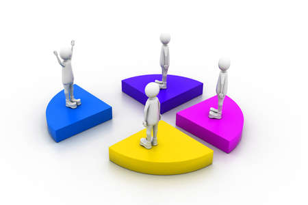 organised group: target audience Stock Photo