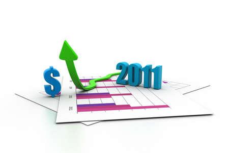 business arrow, chart, business growth concept photo