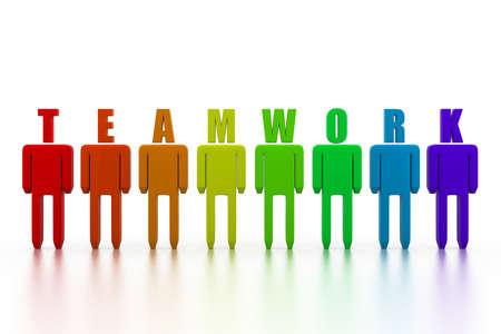 organised group: Teamwork concept Stock Photo
