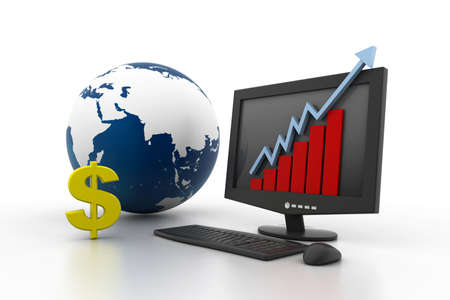World business growth concept Stock Photo - 11290133