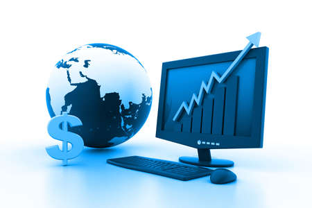 World business growth concept Stock Photo - 11290150