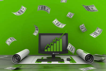 dimensionally: Financial  growth concept Stock Photo