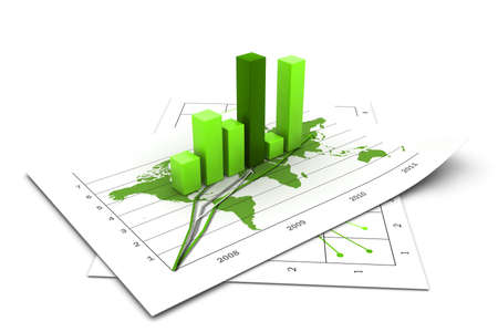 Business growth chart photo