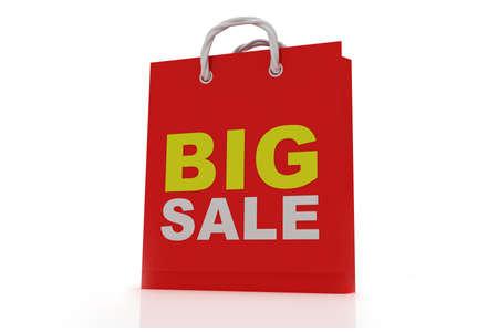 christmas debt: bag with the word sale  Stock Photo