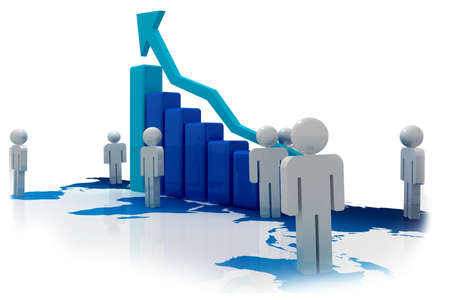 company growth: Successful business Stock Photo
