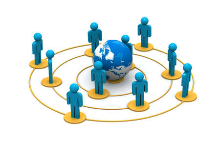 social gathering: Business Network Stock Photo