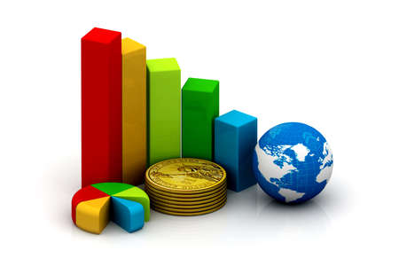 economic growth: Global success concept  Stock Photo