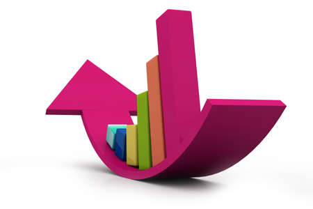 Business graph Stock Photo - 14377521