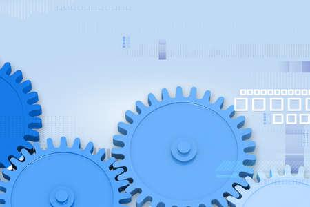 illustration of cog wheel on abstract background  illustration