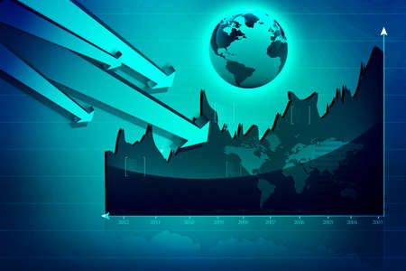 Stock Market Graph  photo