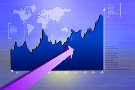 Stock Market Graph  photo