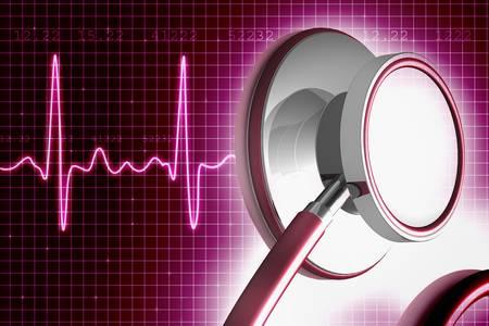 Stethoscope and ECG  photo