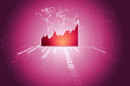 Stock Market Chart  photo