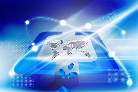 Conexiones globales de la Tierra Digital