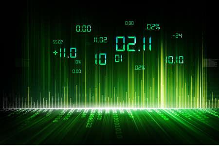 digital stock: stock exchange graph