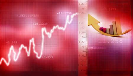 wall street bull: Stock Market Graph