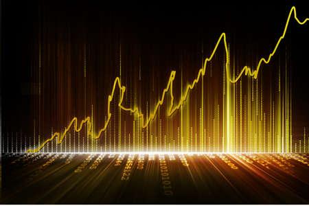 Börse Graphen Standard-Bild