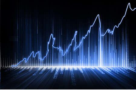 stock exchange graph Imagens - 14405599