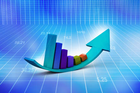 market research: Financial graphs  Stock Photo