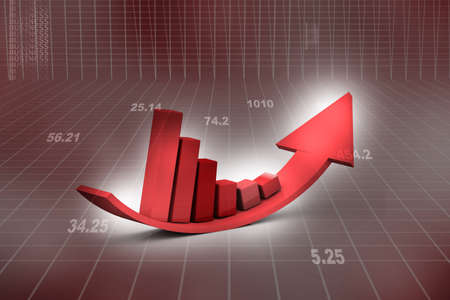 Financial graphs  photo