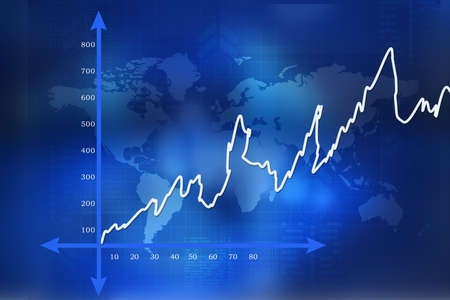 Financial graphs  Stock Photo