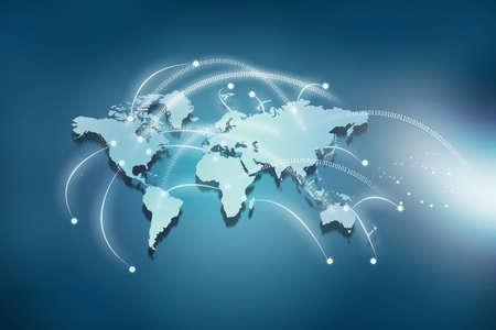 Concepto de las conexiones mundiales Foto de archivo