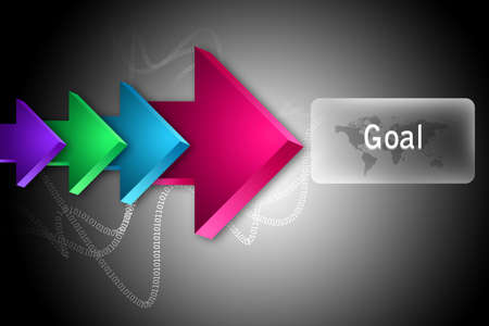 The word Goal and arrows Stock Photo - 14498778
