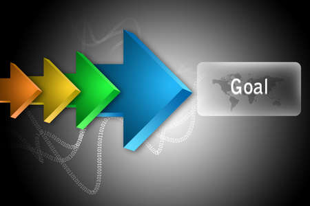 The word Goal and arrows  Stock Photo - 14498792