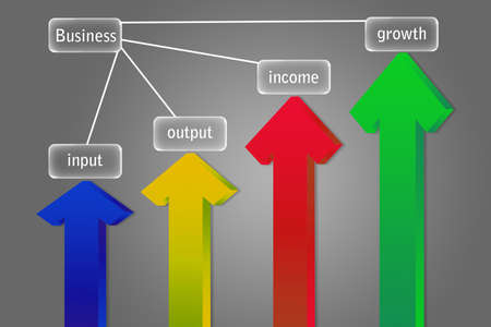 outputs: Arrows pointing up business and financial growth concept   Stock Photo
