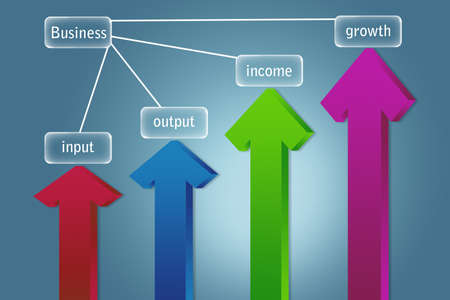 input output: Arrows pointing up business and financial growth concept   Stock Photo
