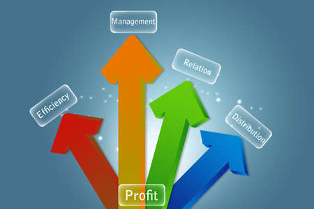 Arrows pointing up business and financial growth concept  photo