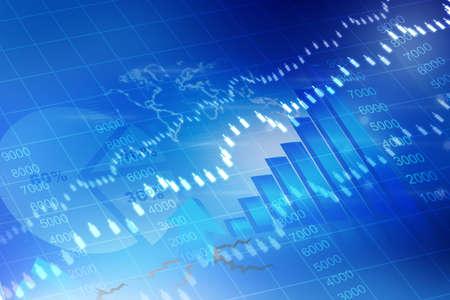stock market charts: stock exchange graph