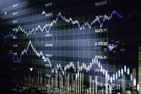 stock  exchange: Gr�ficos de los mercados burs�tiles