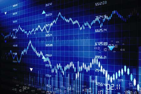 stock  exchange: Los gr�ficos del mercado de valores Foto de archivo