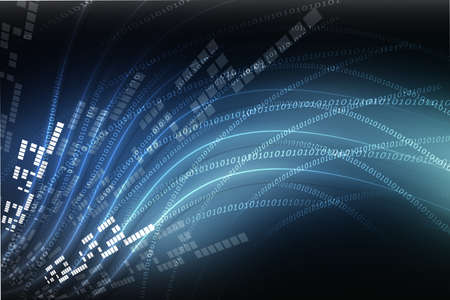 internet background with binary code Stock Photo - 15187821
