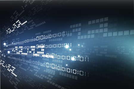 Internet fondo con código binario