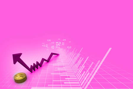 Rising graph with dollar Stock Photo - 15187755