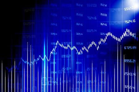 financial graph: stock market chart  Stock Photo