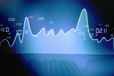 stock market chart Stock Photo - 15187787