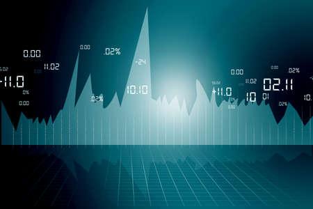statistical: stock market chart  Stock Photo