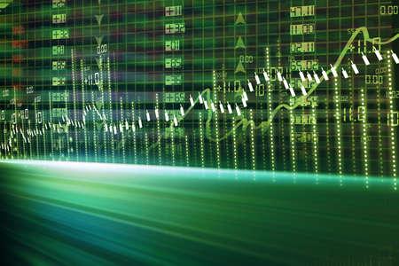 income market: stock market chart  Stock Photo