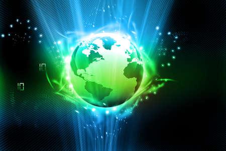continente: Tierra con fibras digitales