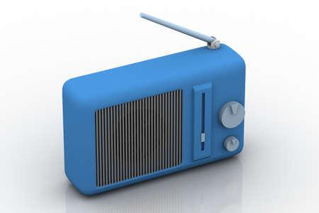 3d illustration of  radio in white background  illustration